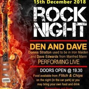 Rock Night – 15th December 2018